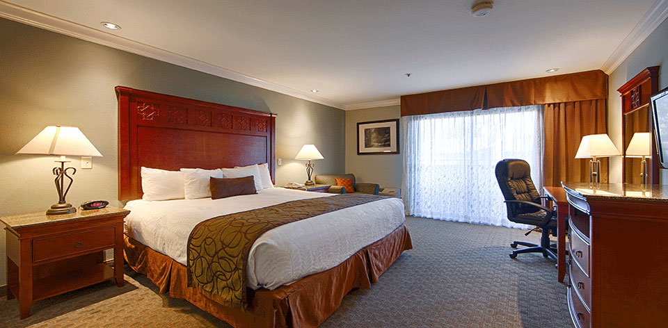 1 king bed Gilroy hotel room