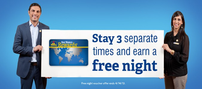 Stay 3 Separate Times and Earn a Free Night
