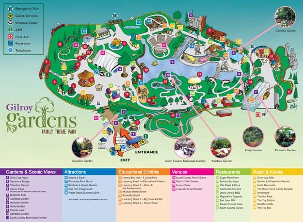 Nice Gilroy Gardens Park Map