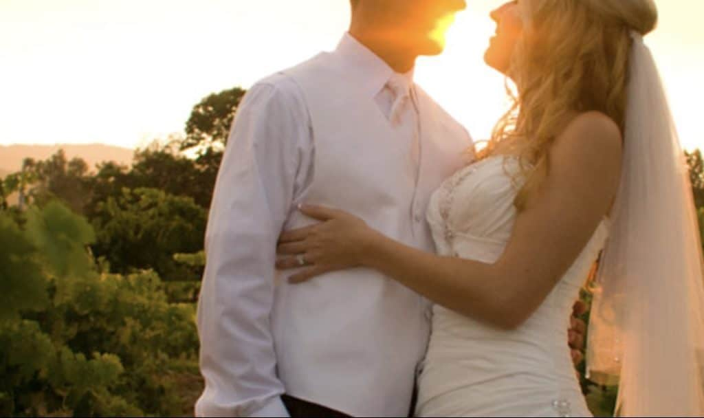 Couple at Hecker Pass, a California wedding venue with sunset photo shot